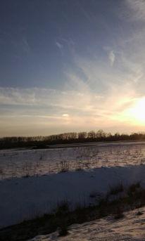 Himmel, Blau, Weiß, Schnee