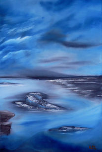 Meerblick, Ölmalerei, Gemälde, Sturm