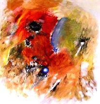 Malerei, Abstrakt, Kugel,