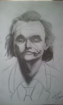 Stern, Zeichnung, Heath ledger, Batman