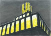 Dortmunder u, Pastellmalerei, Grafit, Industrie