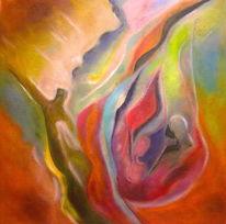 Farben und formen, Fluss, Traumwelt, Malerei