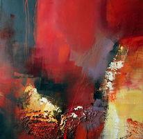 Abstrakt, Rot, Malerei