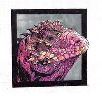 Leguan, Comic, Farben, Zeichnungen