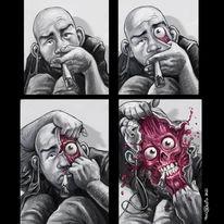 Joint, Gesicht, Maske, Illustrationen