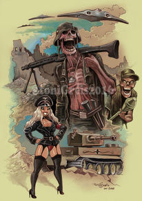 Zombie, Wehrmacht, Nazi, Illustrationen