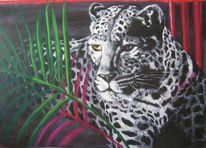 Acrylmalerei, Leopard, Malerei, Tiere