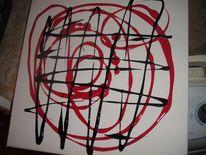 Malerei, Abstrakt, Noir, Rouge