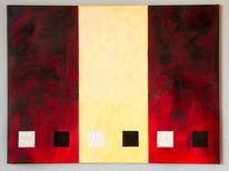 Dekoration, Acrylmalerei, Gold, Rot