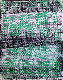 Schwarz weiß, Mosaik, Grün, Abstrakt