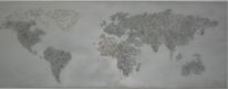 Acrylmalerei, Spachteltechnik, Grau, Erde