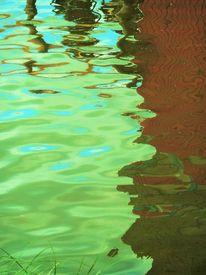 Teich, Bootshaus, Weiher, Wasser