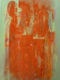 Farben, Ölfrottage, Licht, Malerei