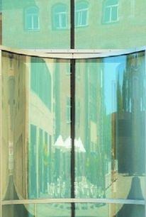 Glas, Spiegelung, Tür, Architektur