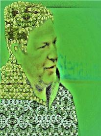 Allegorie, Menschen, Grün, Mann