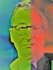 Portrait, Gesicht, Kopf, Grün