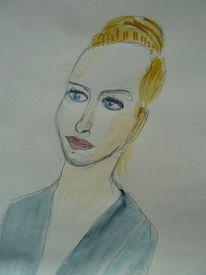 Portrait, Gesicht, Frau, Kopf