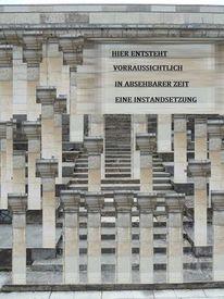 Architektur, Kongressbau, Collage, Tritffestmachung