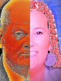 Wahlumfragen, Menschen, Koalition, Duo