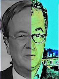 Portrait, Politische farbenlehre, Mann, Gesicht