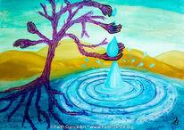 Tropfen, Durst, Baum, Wüste