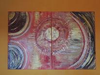 Energie, Gewaltig, Acrylmalerei, Meditation