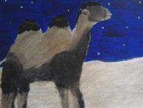 Kamelwüste, Malerei, Kamel