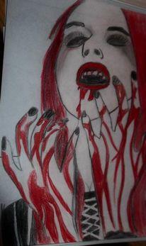 Rot schwarz, Weiß, Blut, Malerei
