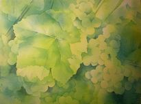 Aquarellmalerei, Herbst, Weintrauben, Trauben