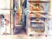 Oberfranken, Aquarellmalerei, Coburg, Veste