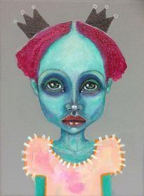 Portrait, Mutant, Mädchen, Figur