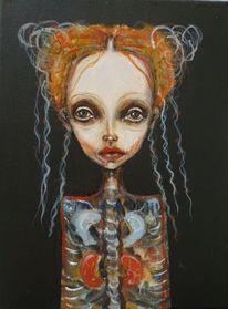 Mädchen, Anatomie, Schwarz, Figurativ