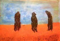 Wüste, Acrylmalerei, Malerei,