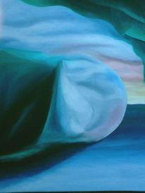 Landschaft, Malerei, Mond, Ölmalerei