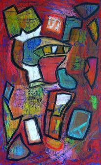 Abstrakt, Pastellmalerei, Hell, Bunt