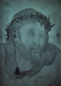 Zeichnung, Jesus, Malerei