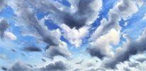 Himmel, Wolken, Ölmalerei, Malerei