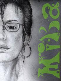 Bleistiftzeichnung, Menschen, Zeichnung, Frau