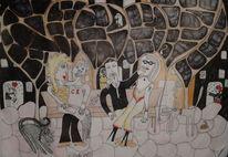 Lustig, Infantil, Naiv, Zeichnungen