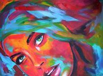 Acrylportrait, Candyart, Model, Gesicht