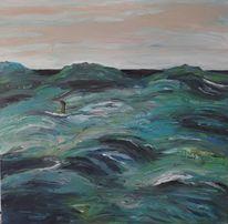 Wasser, Untergang, Flüchtling, Malerei