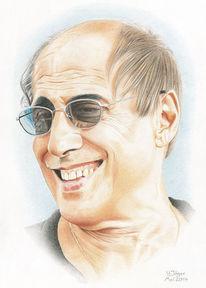 Musiker, Schauspieler, Portrait, Zeichnung