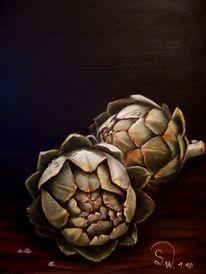 Artischocke, Stillleben, Gemüse, Malerei
