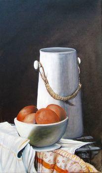 Landleben, Ei, Keramik, Milchkanne