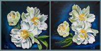 Pfingstrosen, Weiße blüten, Stillleben, Blumen