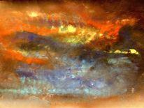 Acrylmalerei, Sonnenaufgang, Malerei