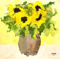 Atmosphäre, Blumen, Modern, Sonnenblumen