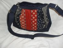 Tasche, Rot, Japan, Blau