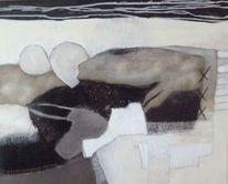 Marmormehl, Abstrakte formen, Liegender mensch, Malerei