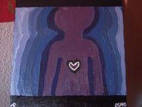 Herz, Person, Malerei